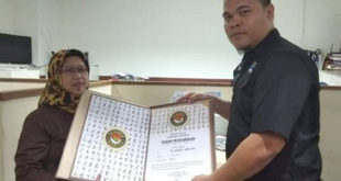 Bupati Banyuasin H Askolani Terima Sabuk Hitam Taekwondo Indonesia
